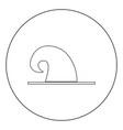 wizard hat icon black color in circle vector image vector image