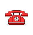 red retro vintage phone modern vector image
