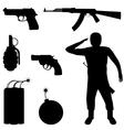 Weapon set vector image