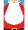 Santa Claus with beard Christmas postcard Big vector image