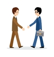 Two businessmen sign the contrac vector image