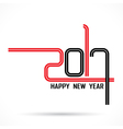 201 and 7 with holiday background vector image