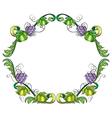 A grape vine border vector image