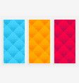 abstract halftone pattern banners in different vector image vector image