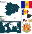 Andorra map world vector image vector image