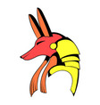 anubis head icon cartoon vector image vector image