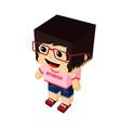atheist girl cartoon mascot vector image vector image