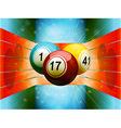 Bingo balls in colourful 3D environment vector image vector image