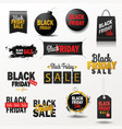 black friday sale banner shopping offer for vector image