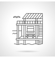 Bungalow black flat line icon vector image vector image