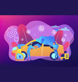 car wash service concept vector image vector image