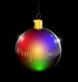 christmas decoration bulb vector image
