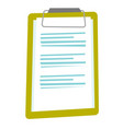 clipboard with a sheet of paper cartoon vector image vector image