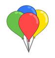 color balloons design vector image
