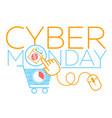 concept cyber monday virtual cart vector image vector image