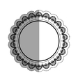 Decorative circle emblem vector image vector image
