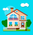 exterior of suburban house vector image vector image
