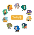 Family life and parents care vector image vector image