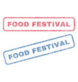 food festival textile stamps vector image vector image