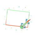 frame with cute color lizard vector image vector image