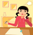 Girl-studying vector image