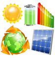 Green Energy Set vector image vector image