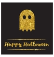 Halloween gold textured ghost icon