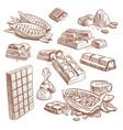 hand drawn sweet chocolate bars candies vector image