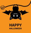 happy halloween bat hanging cute cartoon kawaii vector image vector image