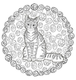 High detail patterned cat vector image vector image