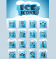 hosting provider icon set vector image vector image