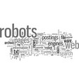 how to keep robots out your web site vector image vector image