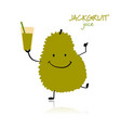 jackfruit funny character for your design vector image vector image