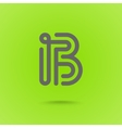 Letter B Graphic Logo Element vector image vector image