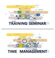 line art training seminar poster banner vector image vector image