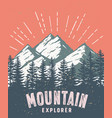 mountain and landscape color image vector image