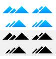 mountain peak symbols vector image