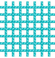 net of rope in turquoise design vector image