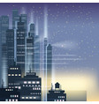 night city city scene skyscrapers towers vector image vector image