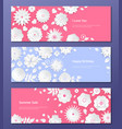 paper cut flowers - set of modern colorful vector image