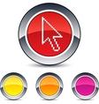 pixel arrow round button vector image vector image