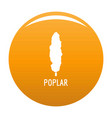 poplar tree icon orange vector image vector image
