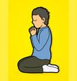 prayer christian praying vector image vector image
