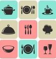 Restaurant menu icons vector image vector image