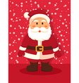 Santa Standing in Red vector image vector image