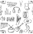 seamless sketch music pattern vector image vector image