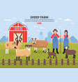 sheep farm poster vector image
