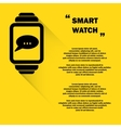 Smart watch background vector image