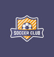 soccer sport team isolated emblem vector image