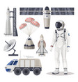 space exploration cosmos or mars expedition item vector image